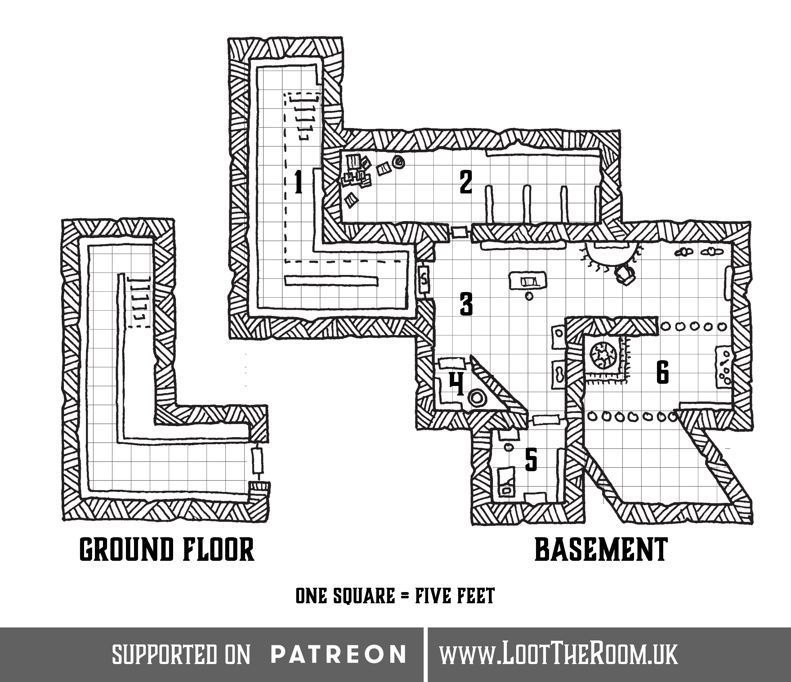 Dungeon Maps – Loot The Room on