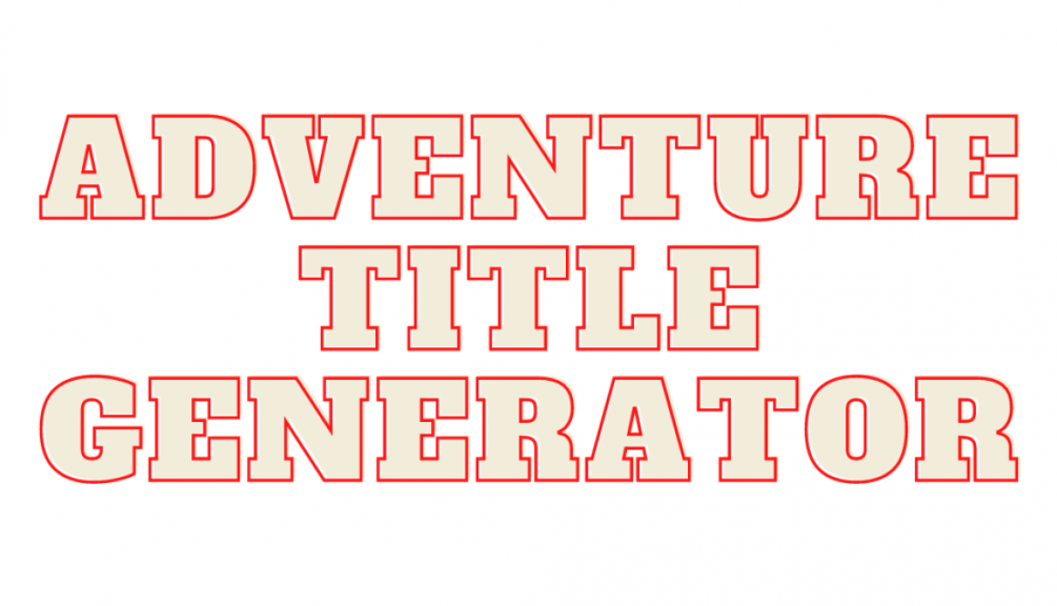 Adventure title generator
